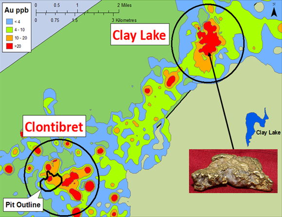 Clay lake gold target conroy gold and natural resources the clay lake gold target lies 7 km 45 miles northeast of the clontibret gold target gumiabroncs Gallery